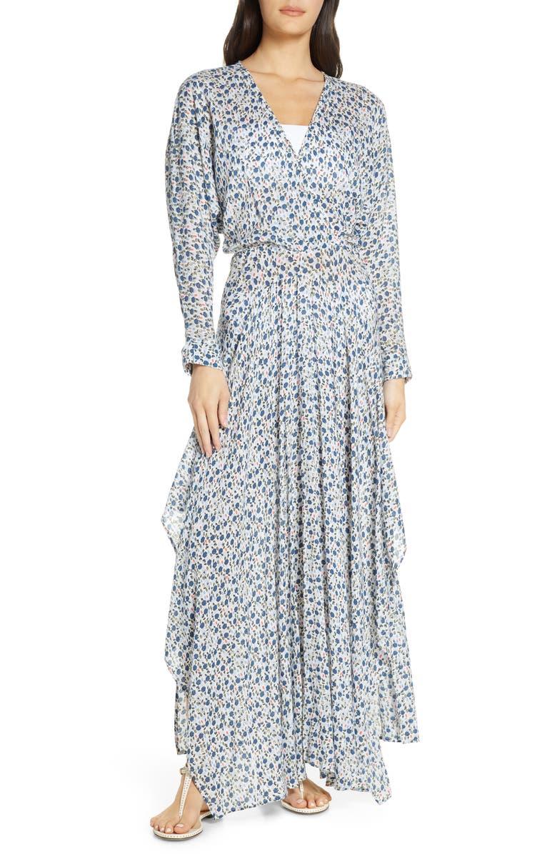POUPETTE ST BARTH Poupette St. Barth Ilona Cover-Up Maxi Dress, Main, color, 400