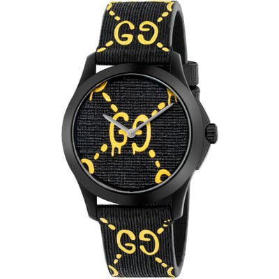 Gucci Gg Rubber Strap Watch,