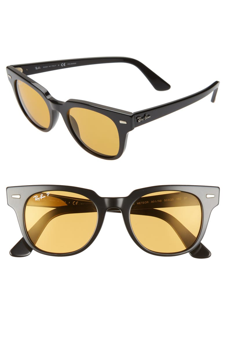 RAY-BAN Meteor Wayfarer 50mm Polarized Sunglasses, Main, color, 729
