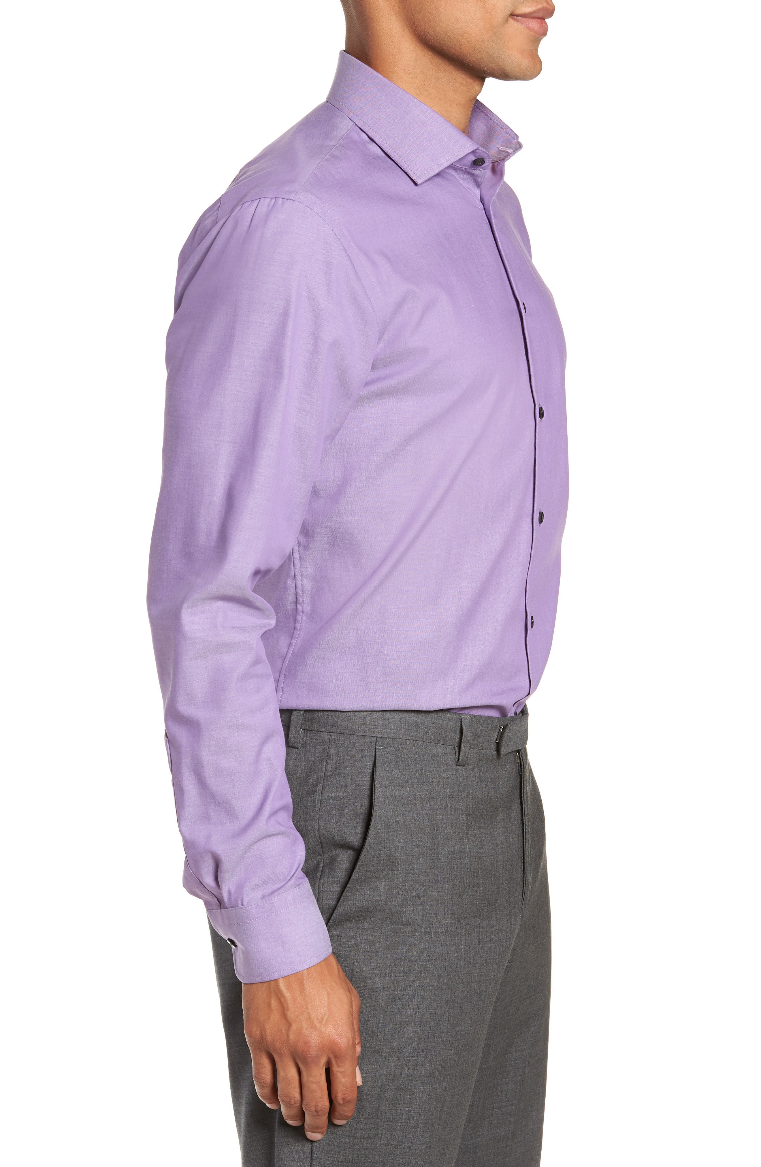,                             Extra Trim Fit Non-Iron Solid Dress Shirt,                             Alternate thumbnail 28, color,                             510