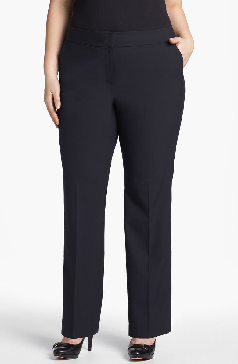 SEJOUR 'Ela' Curvy Fit Pants, Main, color, 001