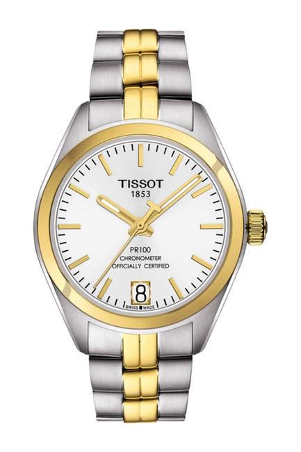 Image of Tissot Women's PR 100 Powermatic 80 Lady COSC Bracelet Watch, 33mm