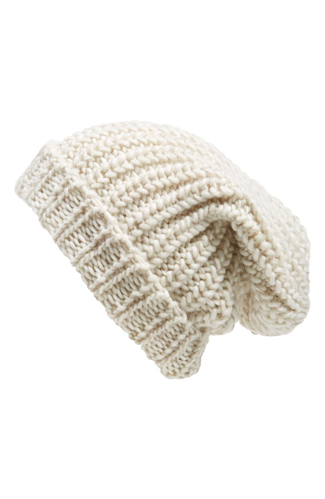 ,                             Chunky Rib Knit Beanie,                             Main thumbnail 15, color,                             900
