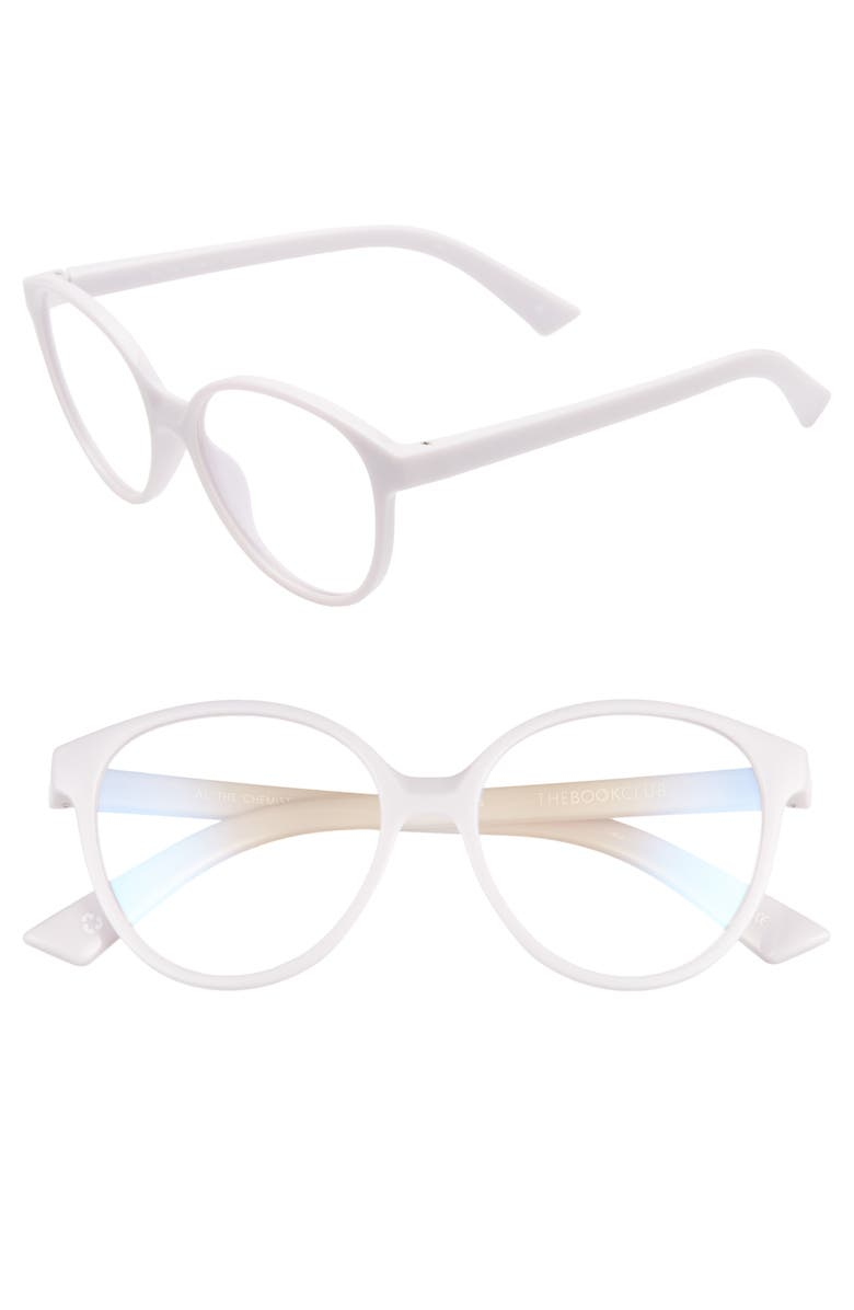 THE BOOK CLUB Al the Chemist 52mm Blue Light Blocking Reading Glasses, Main, color, LILAC