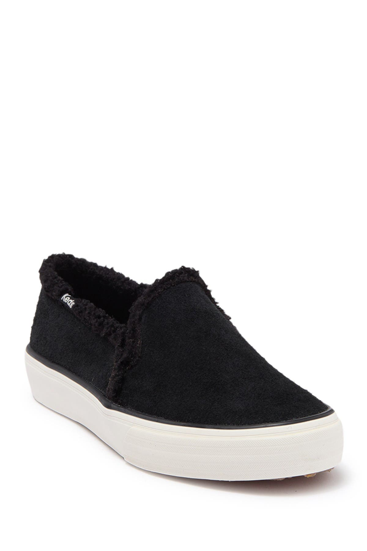 Image of Keds Double Decker Faux Shearling Lined Slip-On Sneaker