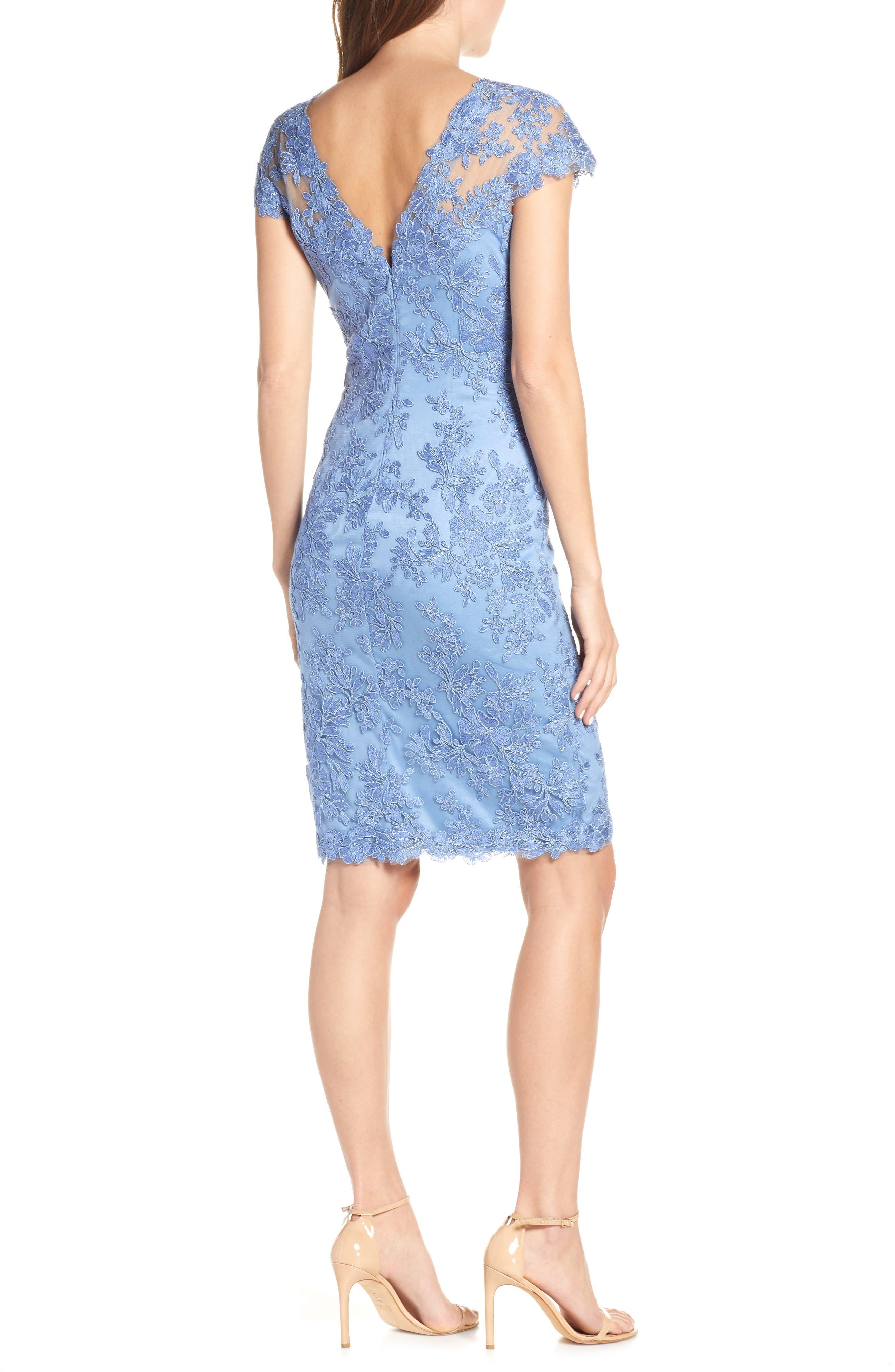 ,                             Corded Lace Sheath Dress,                             Alternate thumbnail 2, color,                             BLUE STONE