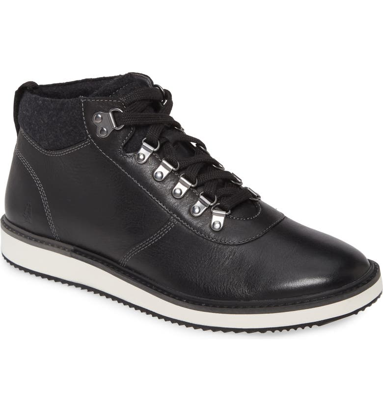 HUSH PUPPIES<SUP>®</SUP> Hush Puppies Heath Hiker Boot, Main, color, BLACK LEATHER