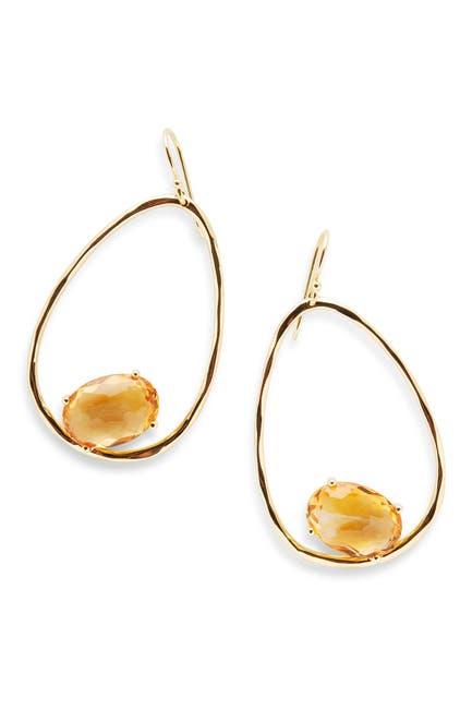 Image of Ippolita 18K Gold Rock Candy Large Suspension Earrings in Orange Citrine