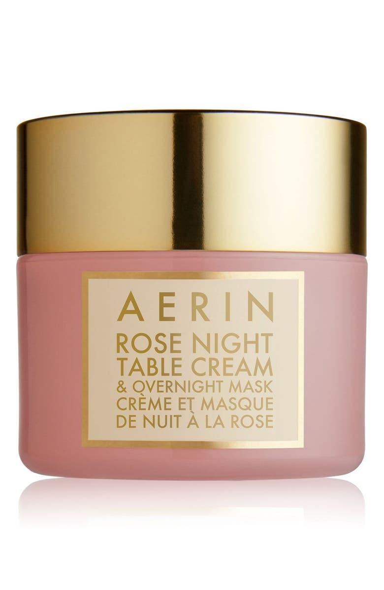 ESTÉE LAUDER AERIN Beauty Rose Night Table Cream & Overnight Mask, Main, color, No Color