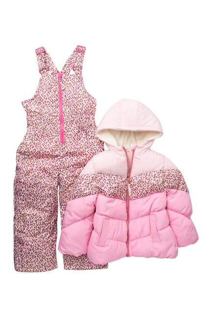 Image of Wippette Colorblock Snow Bib & Jacket Set