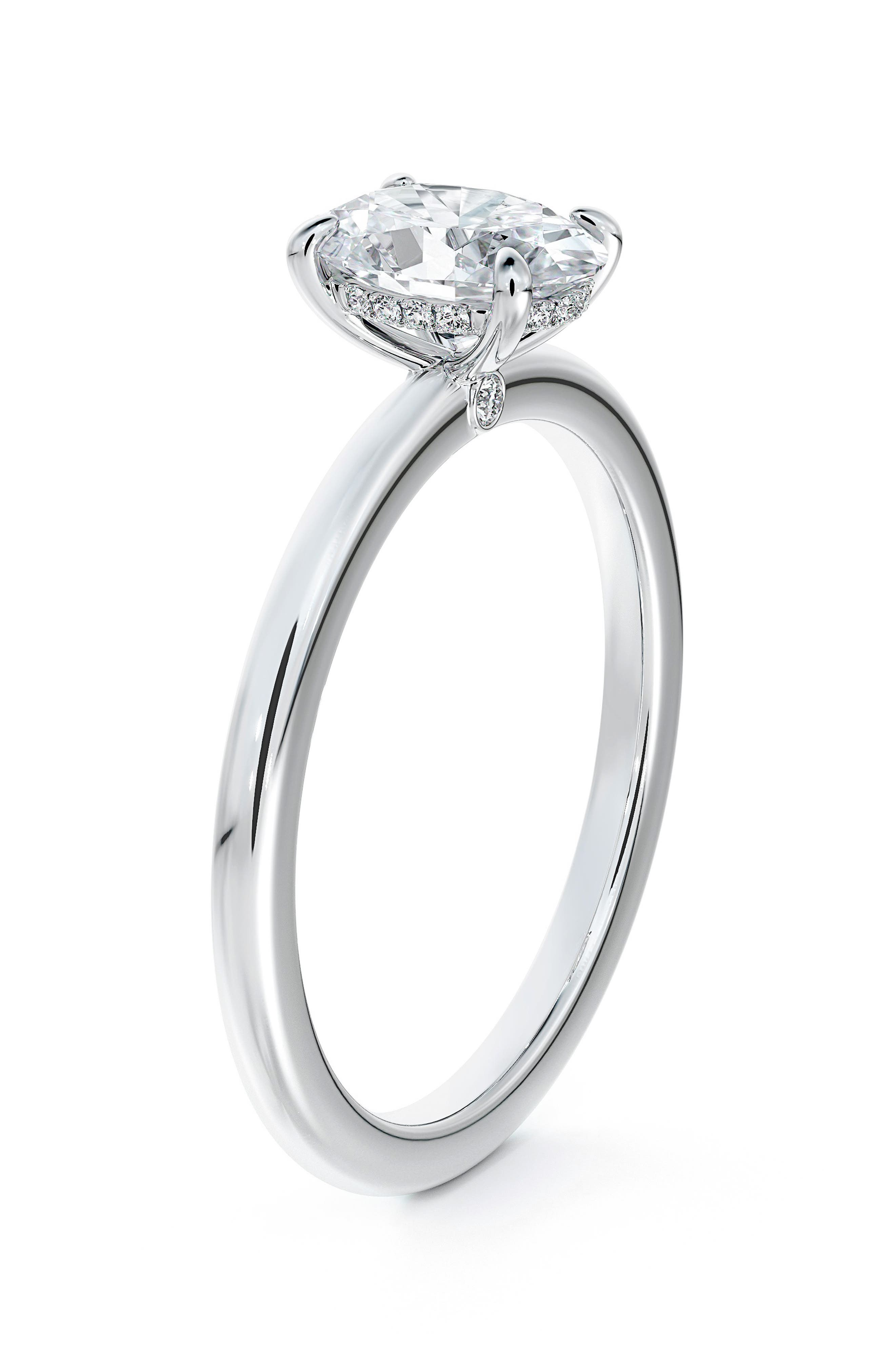 X Micaela Simply Solitaire Oval Engagement Ring