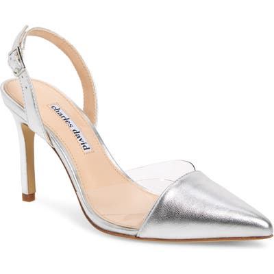 Charles David Daryl Slingback Pump- Metallic