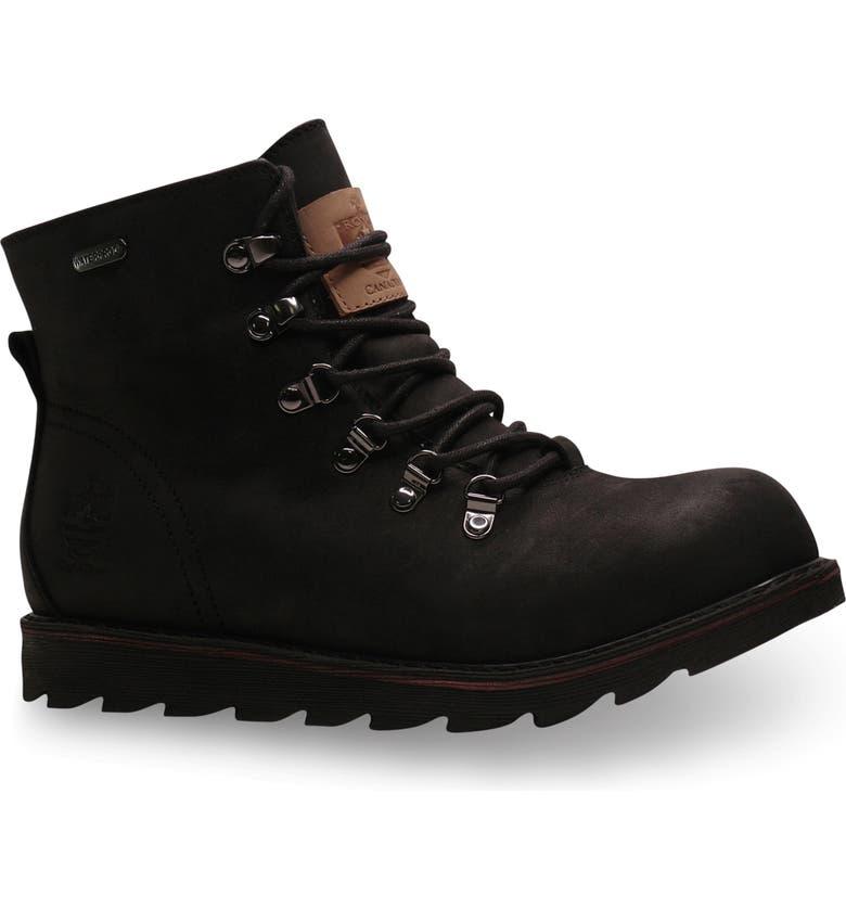 ROYAL CANADIAN Caplan Waterproof Plain Toe Boot, Main, color, TRIPLE BLACK LEATHER