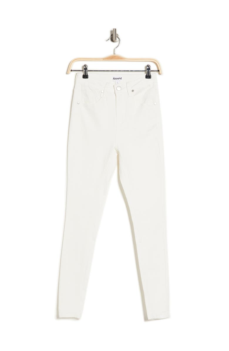ABOUND Sustainable Denim High Rise Skinny Jeans, Main, color, WHITE