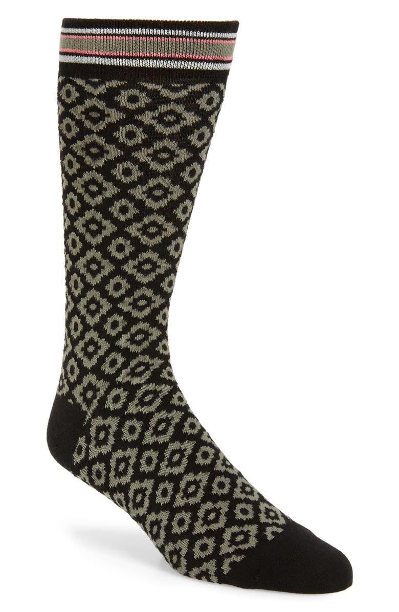 TED BAKER LONDON Scarbre Geometric Socks, Main, color, 312