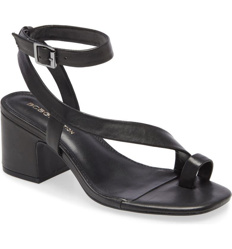 BCBGENERATION Danni Block Heel Sandal, Main, color, BLACK LEATHER