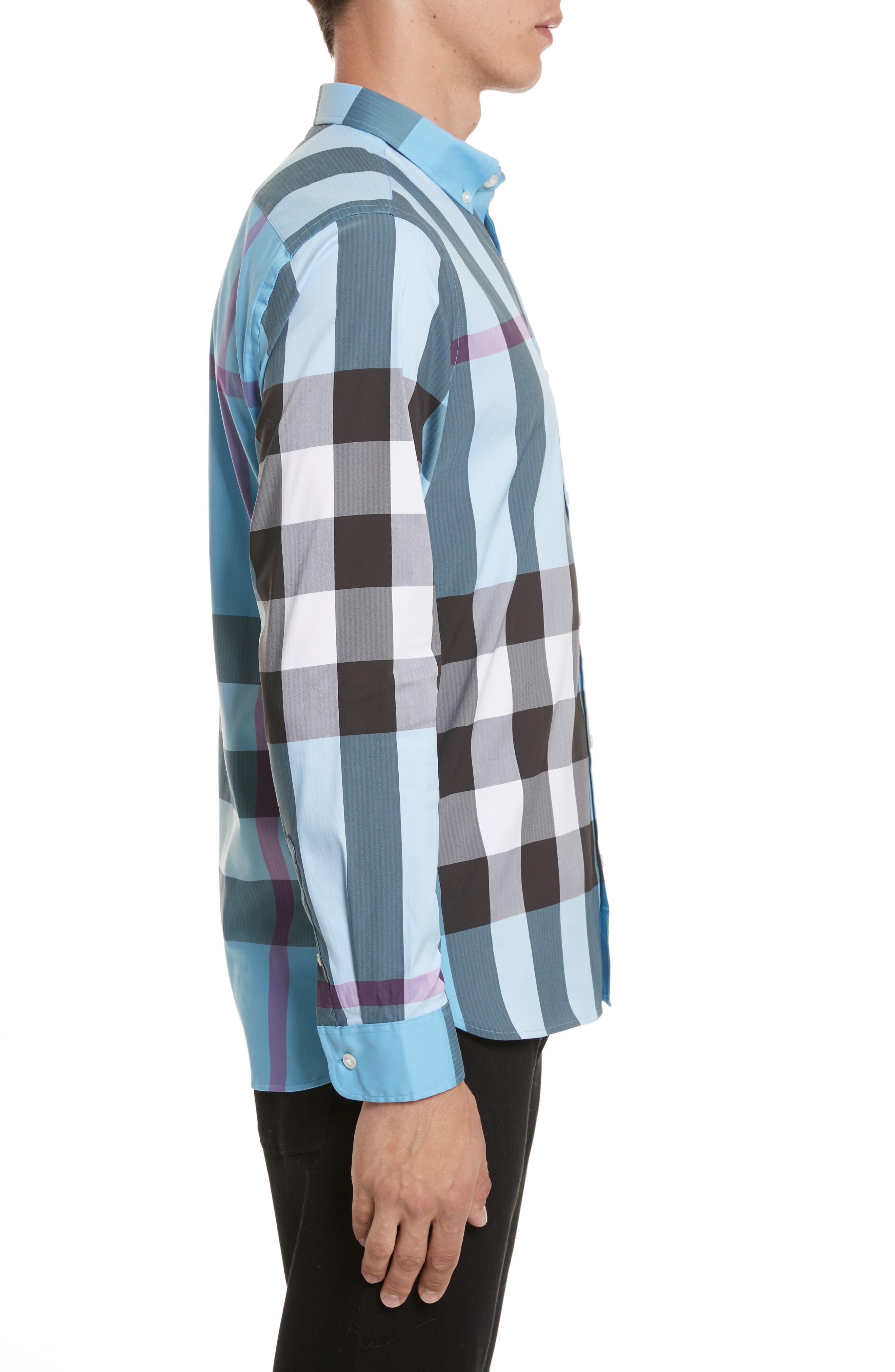 ,                             Thornaby Slim Fit Plaid Sport Shirt,                             Alternate thumbnail 32, color,                             439