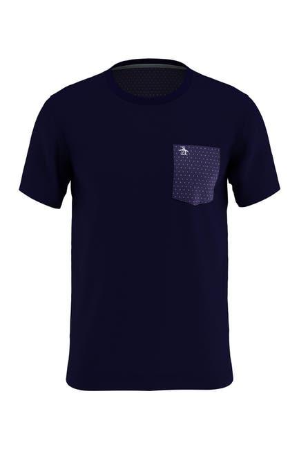 Image of Original Penguin Solid Dot Print Pocket T-Shirt