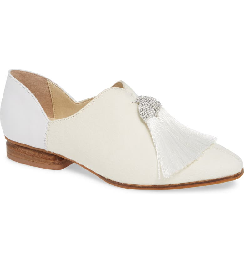 SBICCA Primwood Tassel Loafer, Main, color, WHITE LEATHER