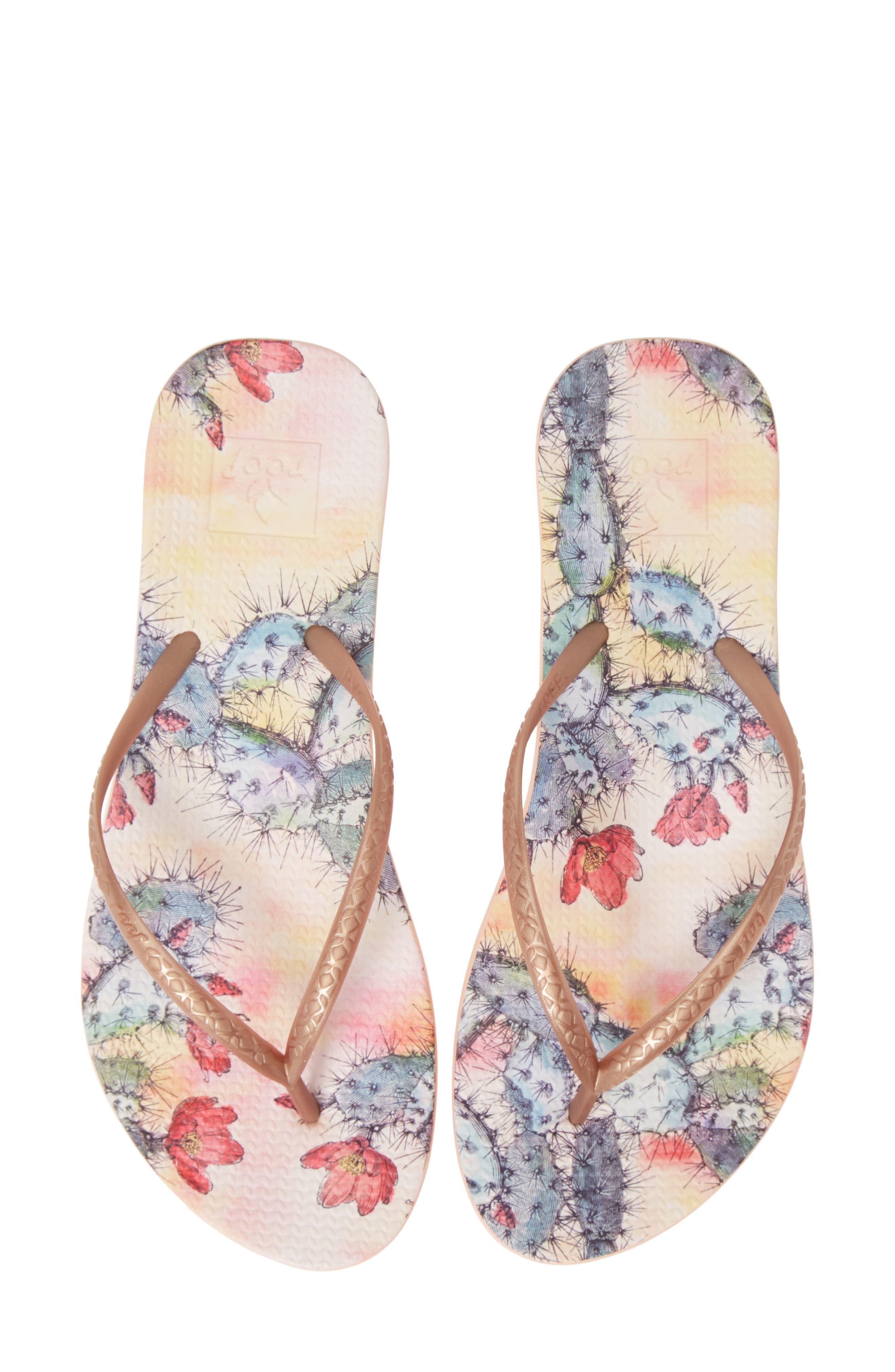 Reef Escape Lux Print Flip Flop, Pink