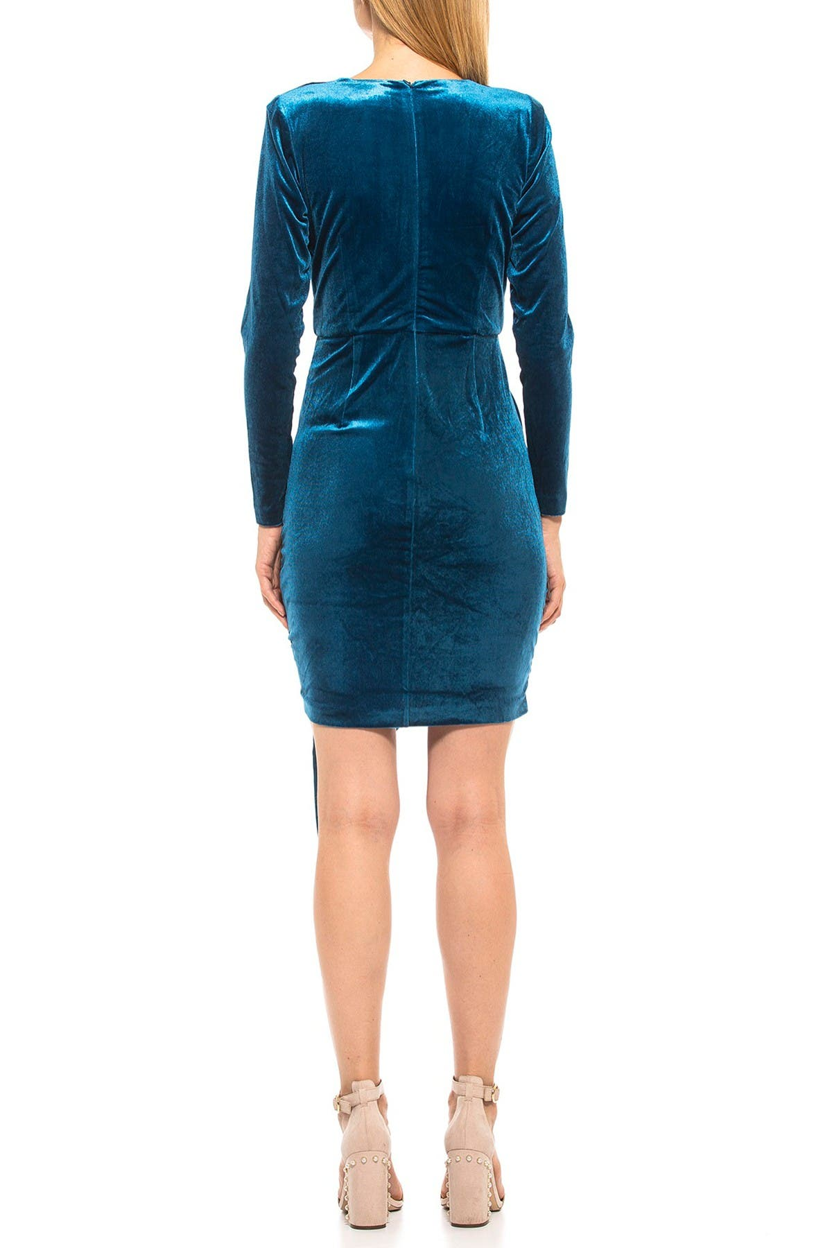 Image of Alexia Admor Juliana Draped Velvet Wrap Dress