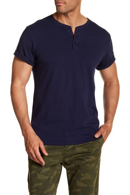 Image of Public Opinion Short Sleeve Henley Shirt