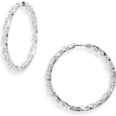 Nadri Gala Inside-Out Hoop Earrings