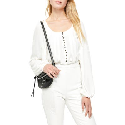 Free People Devin Ribbed Knit Top, Ivory
