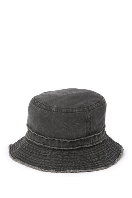 Image of David & Young Frayed Denim Bucket Hat