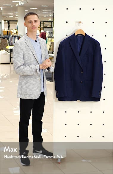 Aiden Classic Fit Solid Wool Sport Coat, sales video thumbnail