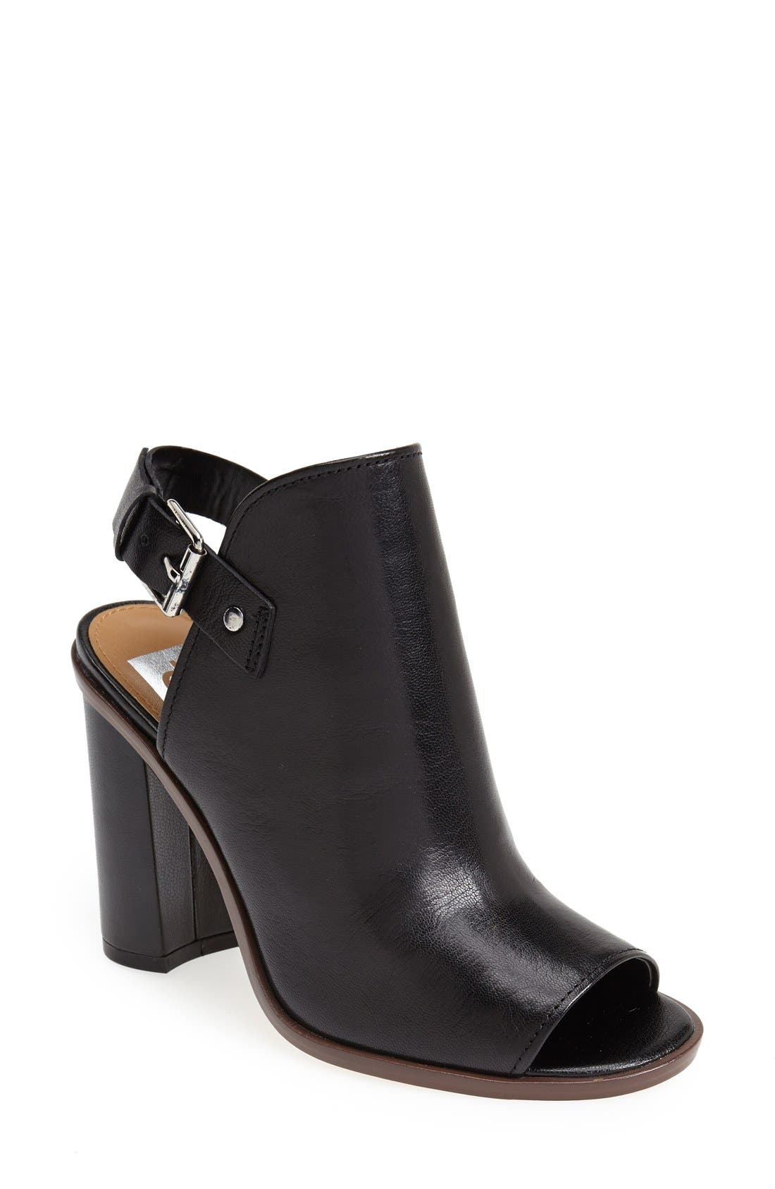 ,                             'Whitney' Peep Toe Bootie,                             Main thumbnail 1, color,                             001