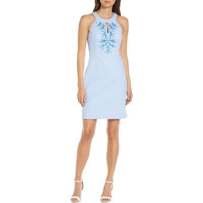 Lilly Pulitzer Jena Beaded Sheath Dress, Blue