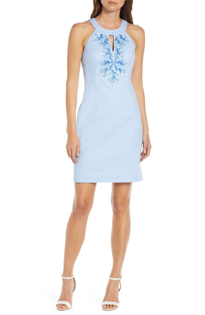 a73b272ed776be Jena Beaded Sheath Dress, Main, color, BLUE PERI TINK