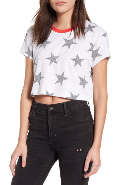 SPLENDID LAKESIDE STAR GRAPHIC CROP RINGER TEE