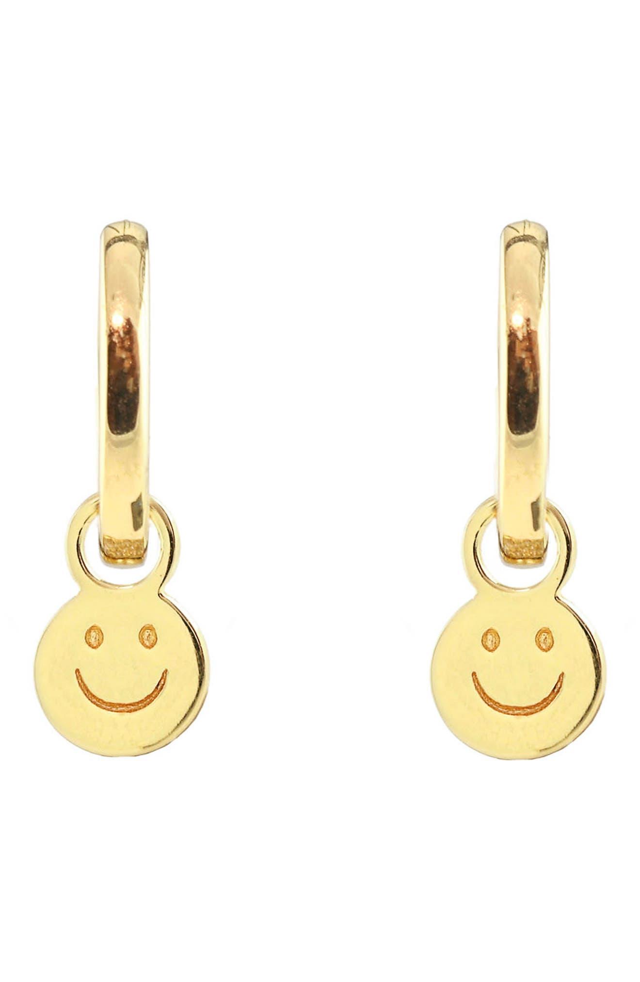 Happy Huggie Hoop Earrings