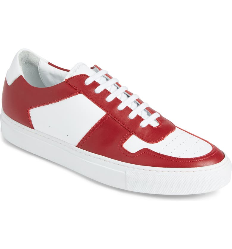 COMMON PROJECTS Bball Low Top Sneaker, Main, color, WHITE/RED