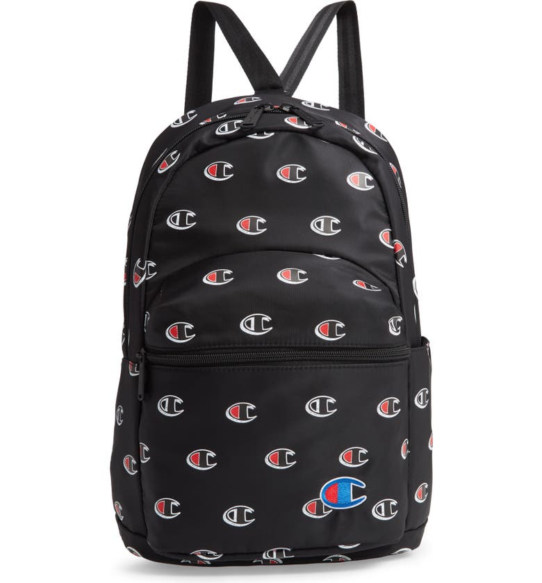 CHAMPION Mini Crossover Backpack, Main, color, BLACK