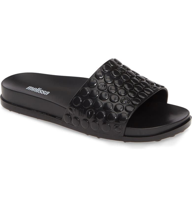 MELISSA Polibolha Slide Sandal, Main, color, BLACK RUBBER