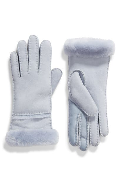 Ugg Seamed Touchscreen Compatible Genuine Shearling Lined Gloves In Fresh Air