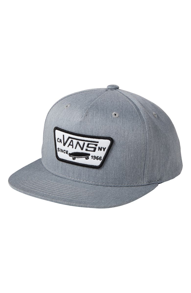 cfe8a3f645fb91 'Full Patch' Snapback Hat, Main, color, HEATHER GREY '