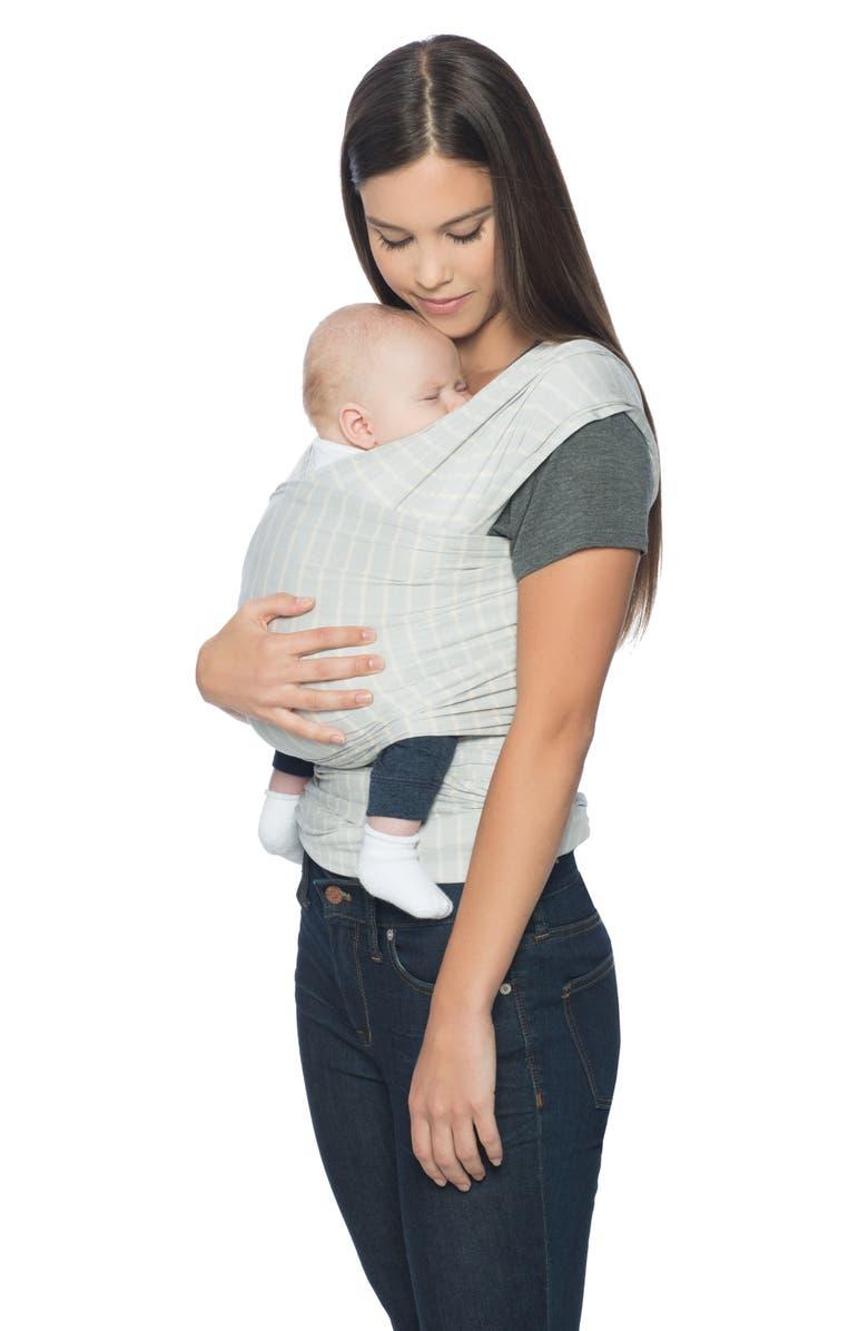 ERGOBABY Aura Baby Wrap, Main, color, GREY STRIPES