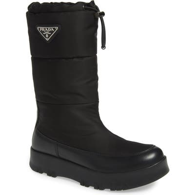 Prada Platform Boot - Black (Nordstrom Exclusive)