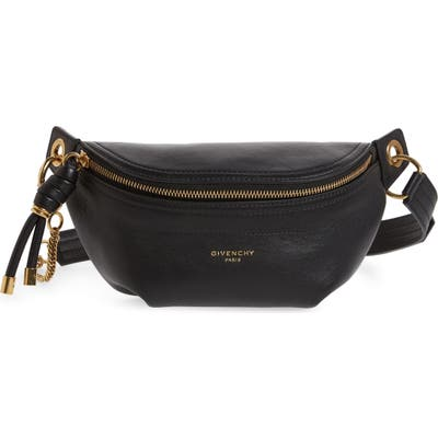 Givenchy Small Whip Leather Belt Bag - Black