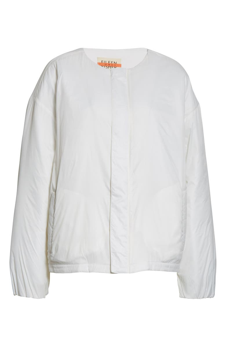 EILEEN FISHER Recycled Nylon Flight Jacket, Main, color, IVORY