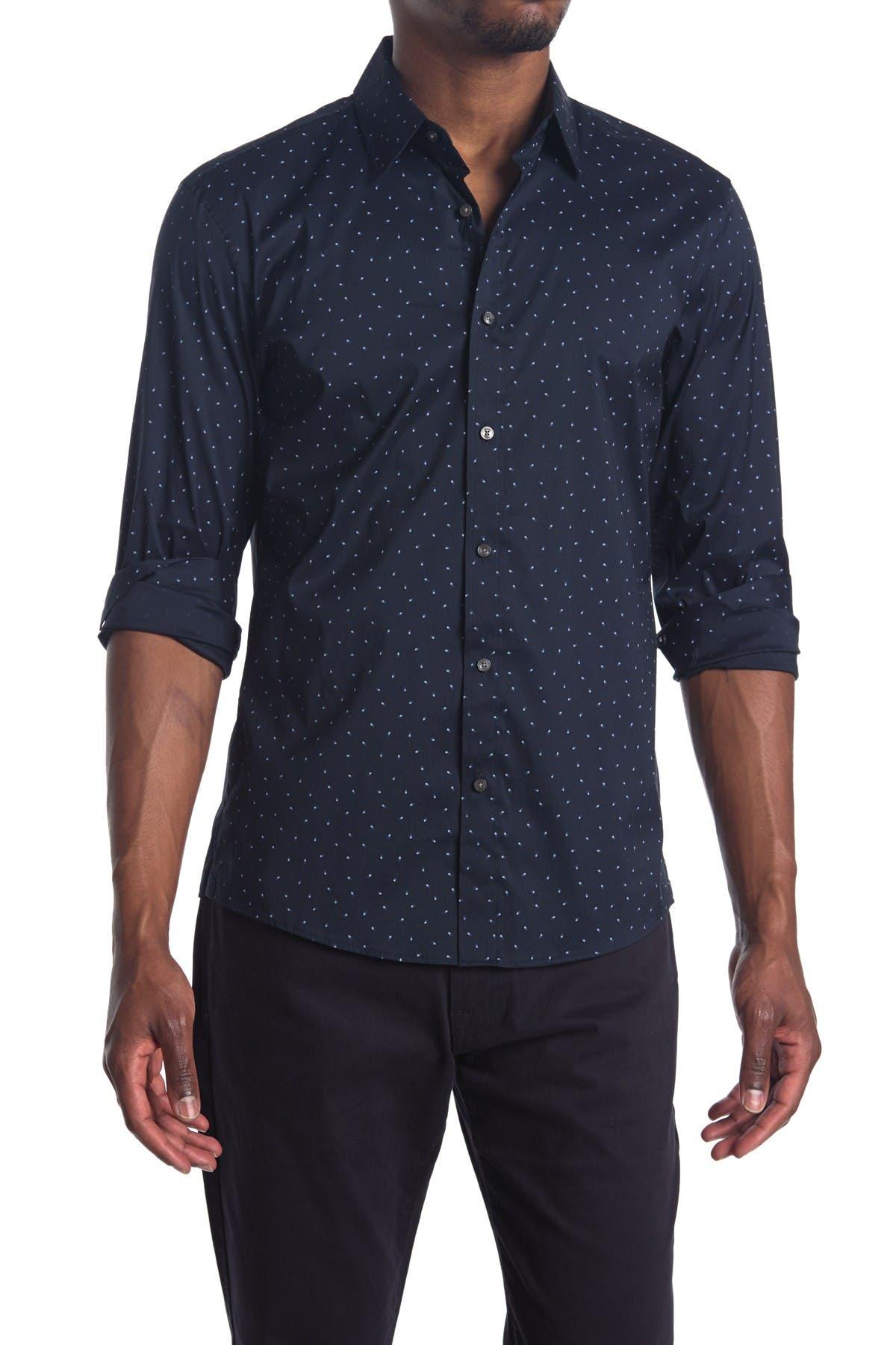 Image of Michael Kors Dot Print Reguar Fit Shirt