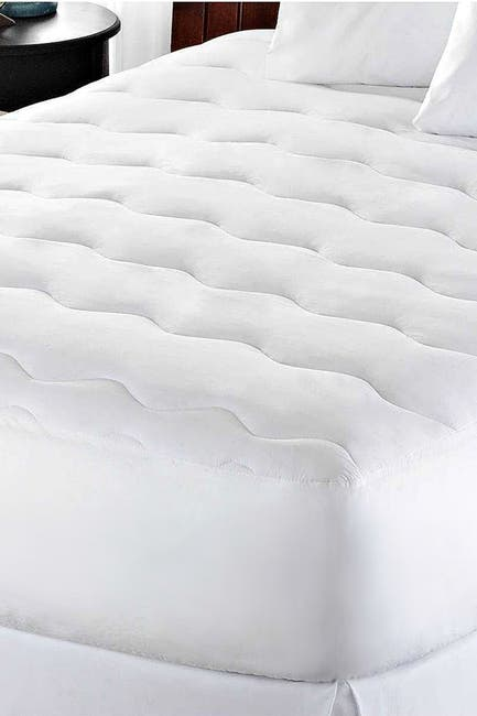 Image of Blue Ridge Home Fashions Queen Waterproof Microfiber Mattress Pad - White