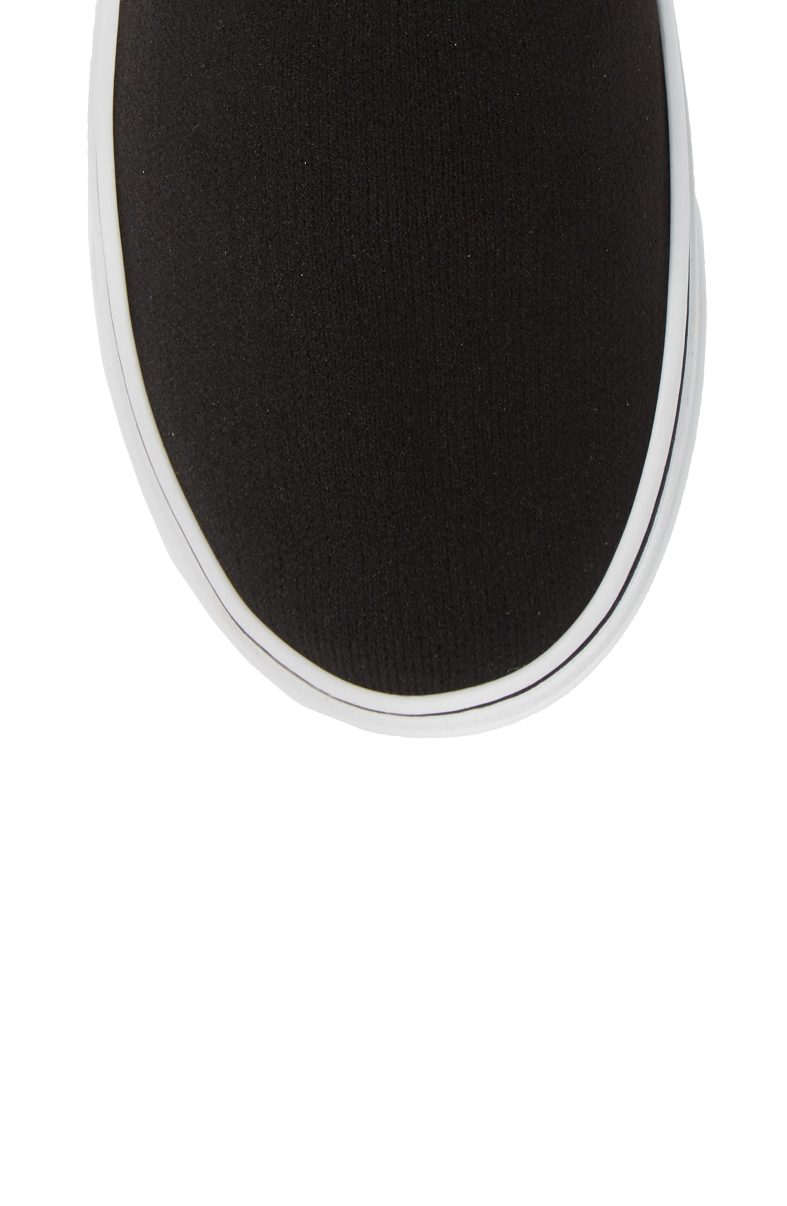 ,                             George V Hi Sock Sneaker,                             Alternate thumbnail 5, color,                             BLACK