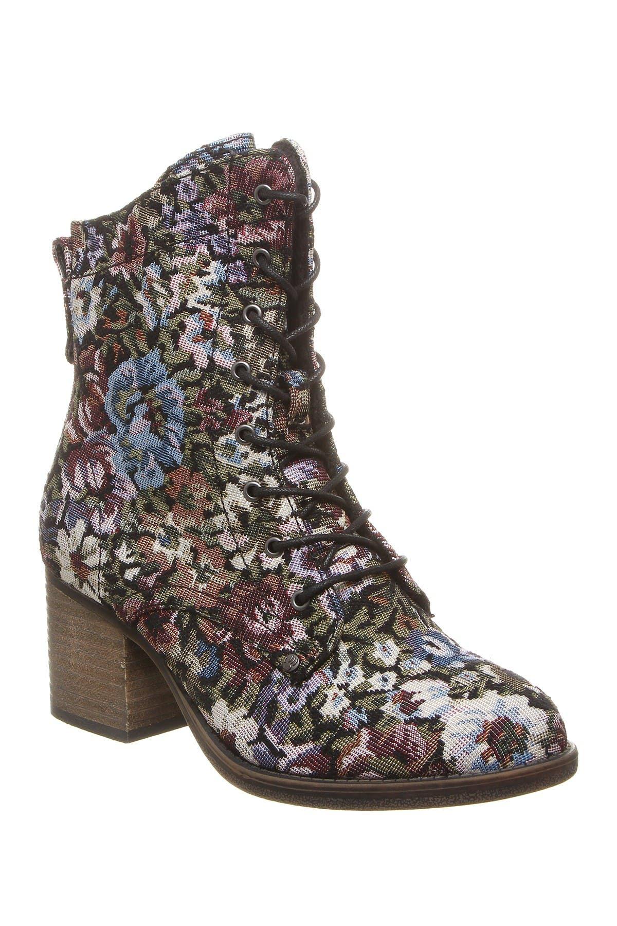 Image of BEARPAW Topaz Genuine Sheepskin Footbed Block Heel Boot