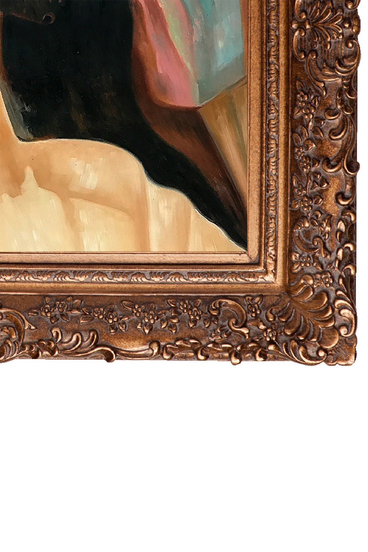"""Image of Overstock Art A Festive Evening with Burgeon Gold Frame - 29.5"""" x 33.5"""""""