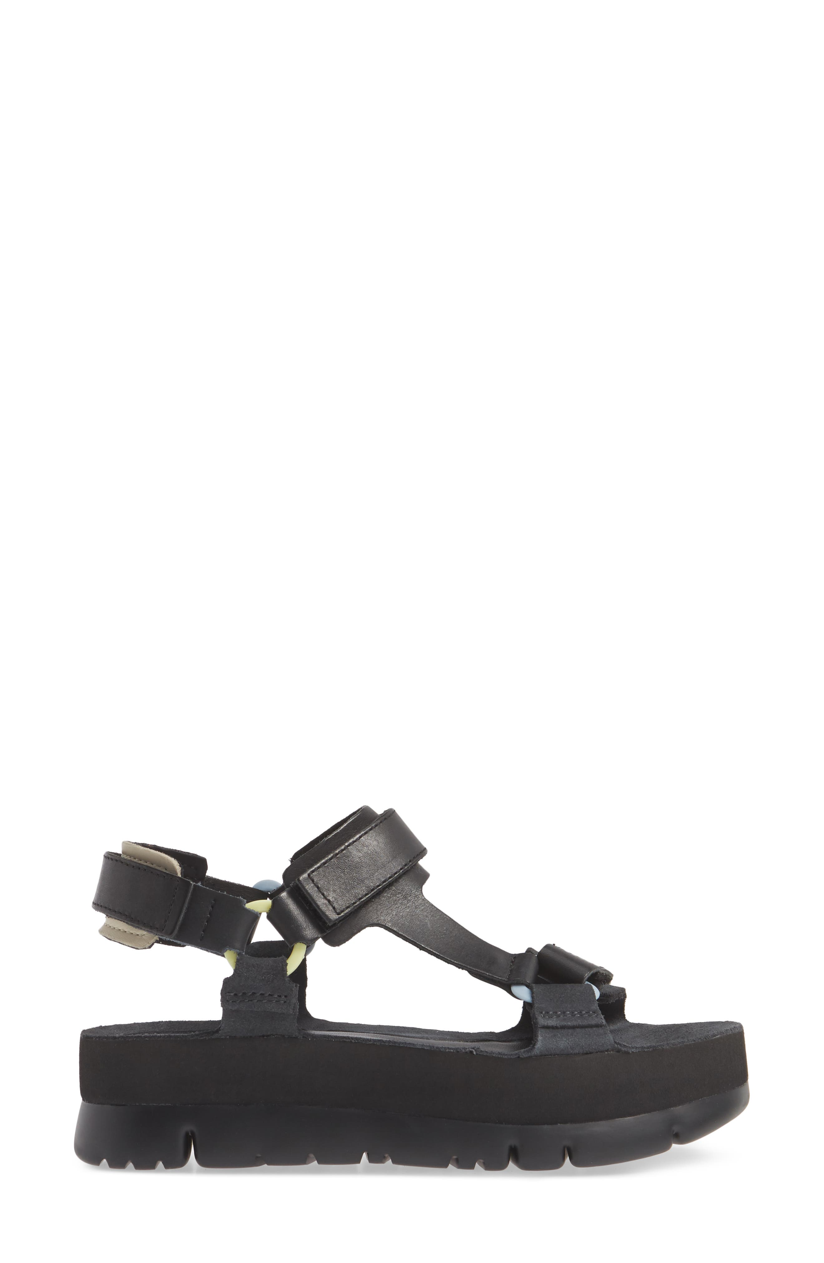 ,                             Oruga Up Platform Sport Sandal,                             Alternate thumbnail 3, color,                             BLACK